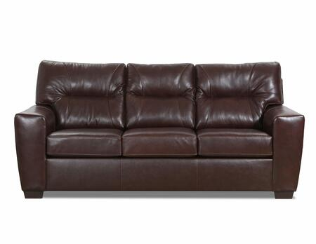 Lavish Collection 2043-03SOFTTOUCHCHESTNUT 88″ Sofa with Removable Seat Cushions  Track Arms  Made in USA  Hardwood Lumber Construction and Top Grain