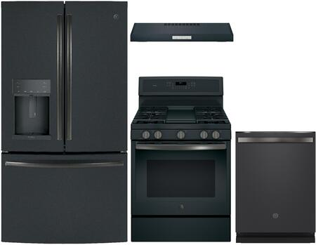 GE Profile 980514 Kitchen Appliance Package & Bundle Black Slate, Main image