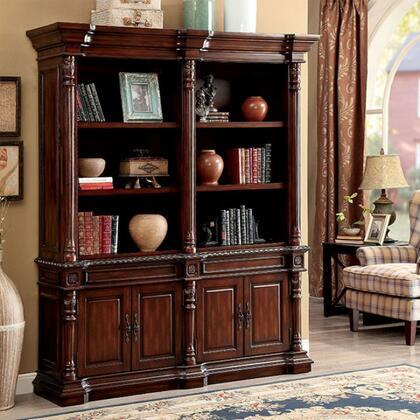 Furniture of America Roosevelt CMDK6252SLPK Bookcase, cm dk6252sl