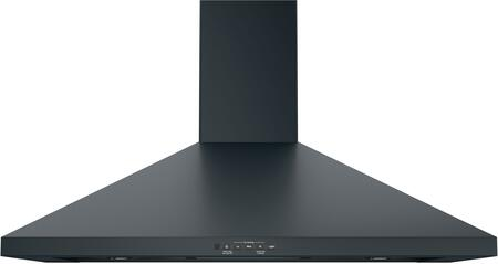 """JVW5361FJDS 36"""" Wall-Mount Pyramid Chimney Hood with 350 CFM Venting System with Boost Electronic Backlit Controls Dual Halogen Cooktop Light"""