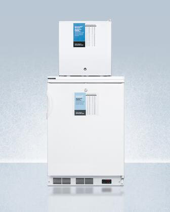 AccuCold  FF6LFS24LSTACKPRO Top Freezer Refrigerator White, FF6LFS24LSTACKPRO Stacked All Refrigerator and Freezer Combination