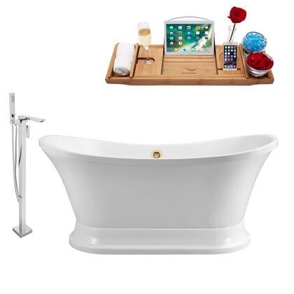 Streamline NH200GLD140 Bath Tub, NH200GLD 140 1T