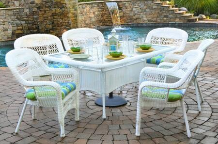 Tortuga  PSD66WH Outdoor Patio Set , 1