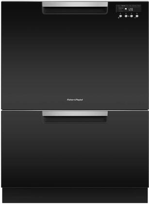 Fisher Paykel DD24DCTB9N Built-In Dishwasher Black, Front View