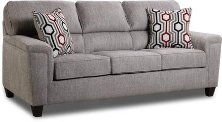 Madelyn Collection 2015-03DANTECONCRETE 88″ Sofa with Removable Seat Cushions  Accent Pillows  Sinuous Wire Spring Support System  Made in USA