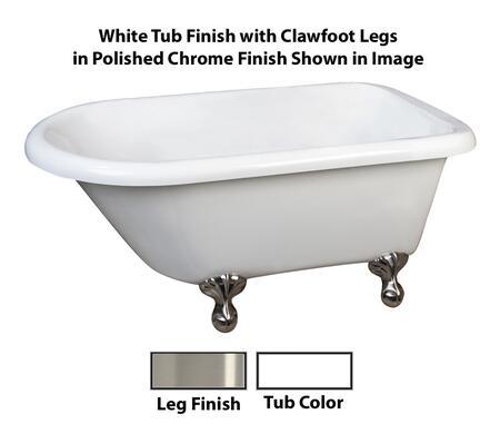 Barclay  ATRN58WHBN Bath Tub White, White Tub Finish with Clawfoot Legs in Polished Chrome Finish