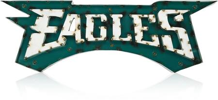 546-1037 Philadelphia Eagles Lighted Recycled Metal