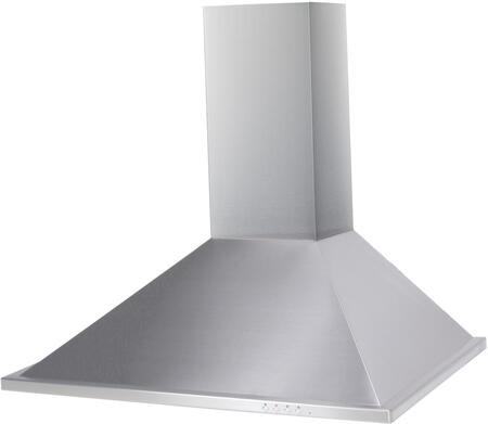 TR30LED 30″ Wall Mount Range Hood with 600 CFM  LED Lighting  Aluminum Mesh Filters and Push Button Controls in Stainless