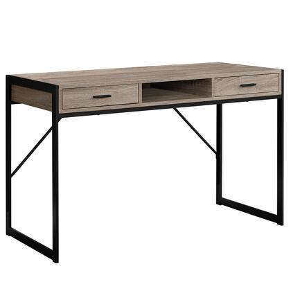 I 7365 Computer Desk – 48″L / Dark Taupe / Black