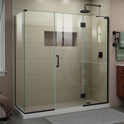 DreamLine Unidoor-X E32422534R09 Shower Enclosure Black, UnidoorX Shower Enclosure RS45 24HP 24D 22IP 30RP R 09