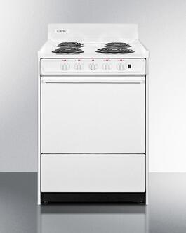 Summit  WEM6171Q Freestanding Electric Range White, medium WEM6171Q Front