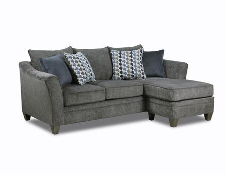 Lane Furniture Albany 648503SCALBANYSLATE Sectional Sofa Gray, Sofa and Chaise Base.