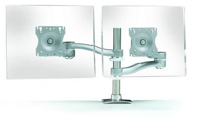 7920 Flat Screen Monitor Arm with 20″ Of Back and Forth Movement  Arm Swivels 360 Around The Base and Grommet Mount