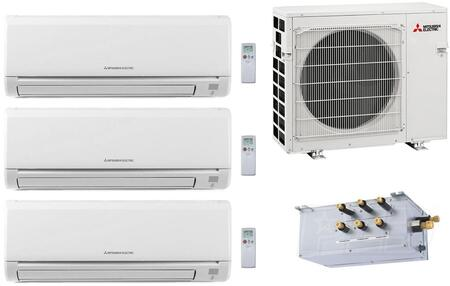 Mitsubishi M Series 864742 Triple-Zone Mini Split Air Conditioner White, 1
