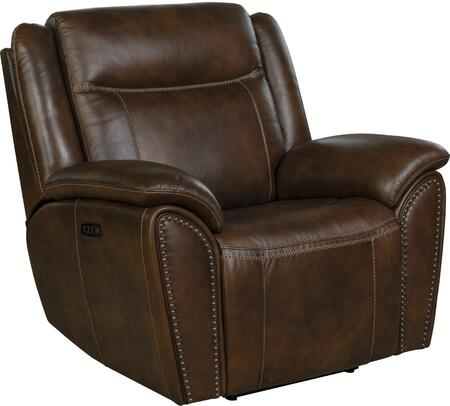 Holbrook Collection 9PHL3629370886 Power Recliner with Power Head Rest and  Lumbar  Leather Match Upholstery in Venzia Brown