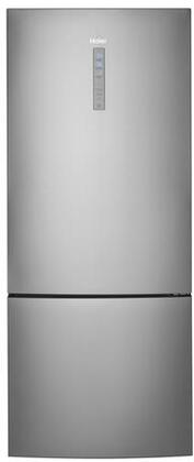 Haier  HRB15N3BGS Bottom Freezer Refrigerator Stainless Steel, Front View