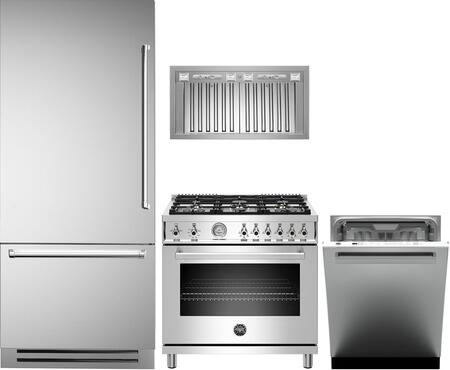 Bertazzoni  1000152 Kitchen Appliance Package Stainless Steel, main image