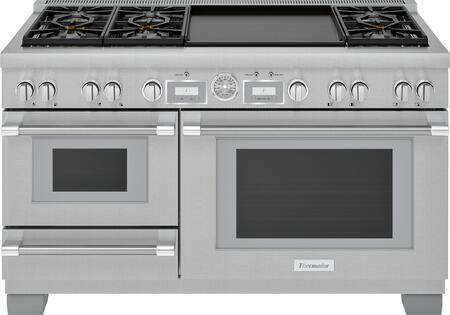 Thermador Pro Grand PRD606WESG Freestanding Dual Fuel Range Stainless Steel, PRD606WESG 60-Inch Commercial Depth Dual Fuel Steam Range