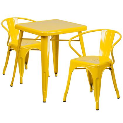 Flash Furniture CH31330 CH31330270YLGG Outdoor Patio Set Yellow, CH31330270YLGG