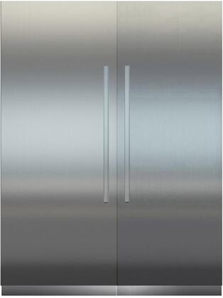 66″ Side By Side Column Refrigertor & Freezer Set with MRB3000 30″ Right Hinge Refrigerator  MF3651 36″ Left Freezer  Door Panels and Aluminum