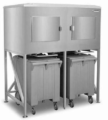 ICS-2 60″ Two Bay Ice Express System with 1200 lbs. Storage Capacity  Stainless Steel Construction and Polyethylene Ice Carts in Stainless