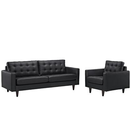 Modway Empress EEI1311BLK Living Room Set Black, Black