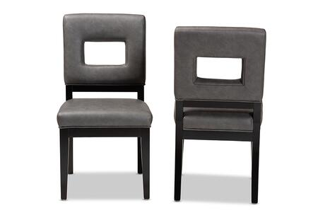 Wholesale Interiors Faustino Y765CU155CHARCOAL Dining Room Chair Gray, Y765CU155CHARCOAL set