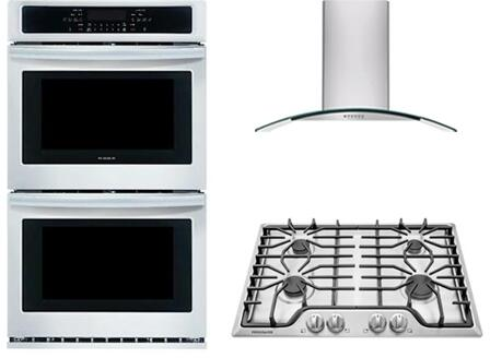Frigidaire 3 Piece Kitchen Package With Ffgc3026ss 30 Inch Gas