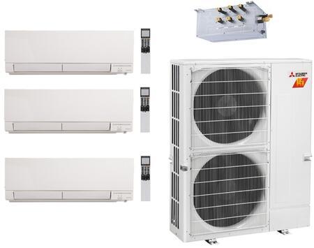 Mitsubishi M Series 978028 Triple-Zone Mini Split Air Conditioner White, 1