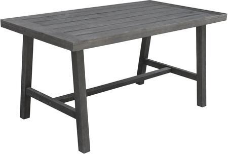 Vifah Renaissance V1819 Outdoor Patio Table Gray, Main Image