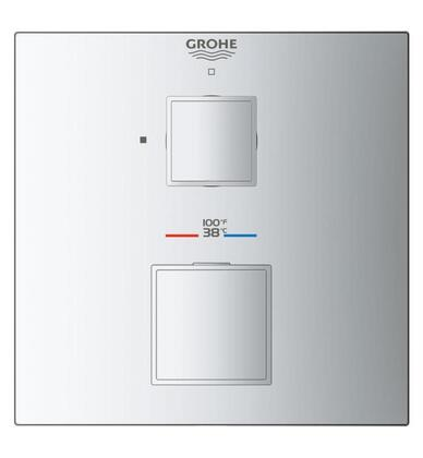 Grohtherm Cube 24157000 Single Function 2-Handle Thermostatic Trim  in