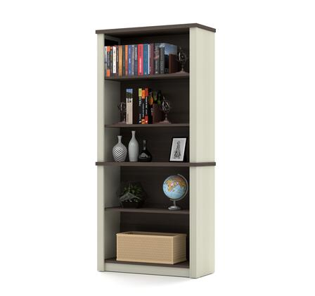 Bestar Furniture 997001152 Bookcase, prestige+ white chocolat antigua 99700 52 3