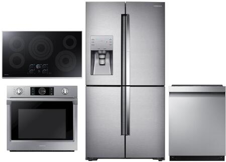 Samsung  1011309 Kitchen Appliance Package Stainless Steel, main image