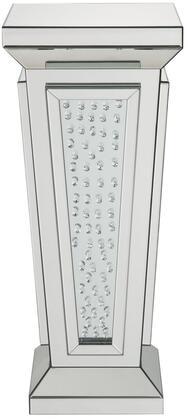 Acme Furniture Nysa 80392 Decorative Pedestals Silver, Pedestal Stand