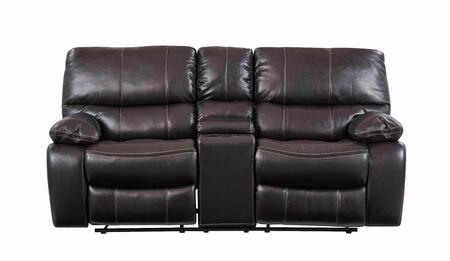 Global Furniture USA U0040 U0040ESPRESSOCRLS Loveseat Brown, Main Image
