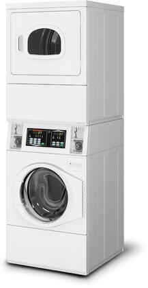 Speed Queen  STENCASP175TW01 Commercial Stacked Washer and Dryer White, Main Image