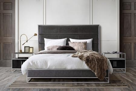 Diamond Sofa Empire EMPIREEKBEDGR Bed Gray, EMPIREEKBEDGR Main Image
