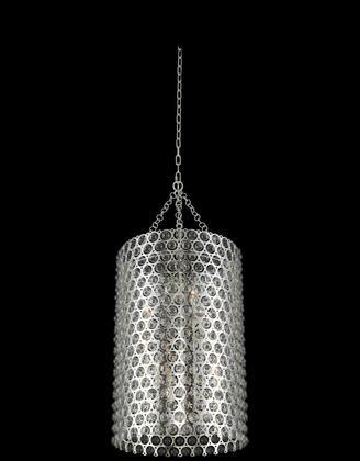 Vita 032250-014 20″ Foyer in Polished Silver Finish with Handblown Glass