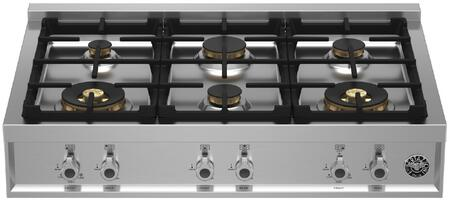 Bertazzoni Professional PROF366RTBXT Gas Cooktop Stainless Steel, PROF366RTBXT Professional Series Gas Rangetop