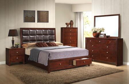 Acme Furniture Ilana 24590Q5PC Bedroom Set Brown, Bedroom Set