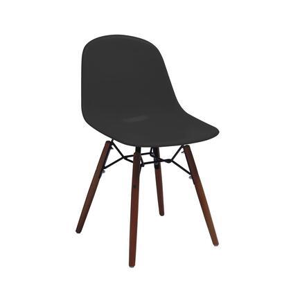 Design Lab MN Grazia LS9441BLKWAL Accent Chair Black, 4fdb5bf9 1d8c 43a6 82d9 9207de3a1a3d