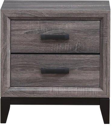 Global Furniture USA Global Furniture USA KATEFOILGREYNS Nightstand Gray, Main Image