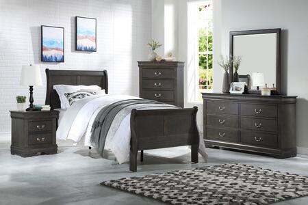 Acme Furniture Louis Philippe 26800TSET Bedroom Set Gray, Bedroom Set