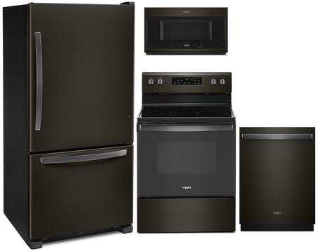Whirlpool  1127509 Kitchen Appliance Package Black Stainless Steel, Main image