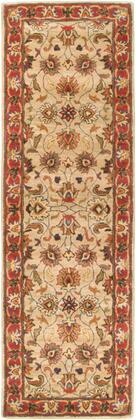 Caesar CAE-1001 2'6″ x 8′ Runner Traditional Rugs in Camel  Burnt Orange  Dark Brown  Clay  Olive