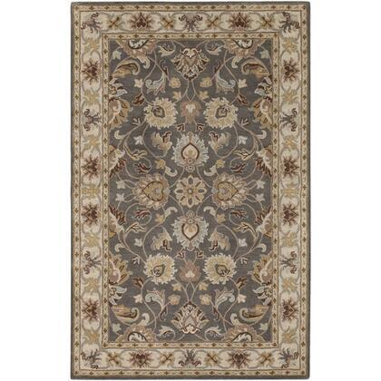 Caesar CAE-1005 9′ x 12′ Rectangle Traditional Rugs in Charcoal  Khaki  Bright Yellow  Light Gray  Taupe  Camel  Dark Brown  Medium