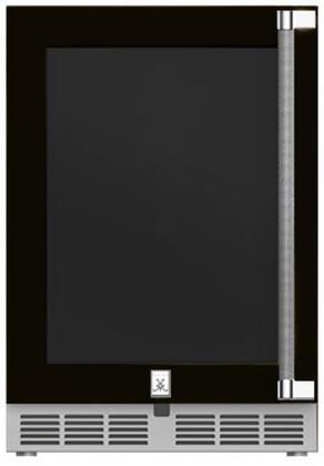 Hestan  GRWGL24BK Compact Refrigerator Black, Main Image