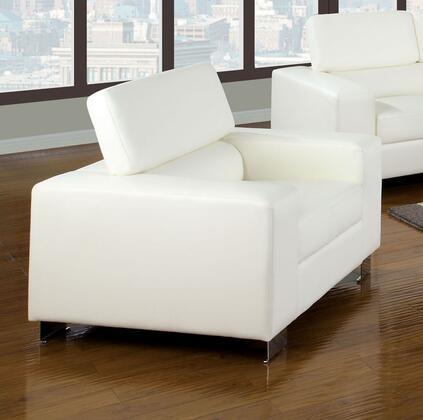 Furniture of America Makri CM6336WHCH Living Room Chair White, Main Image