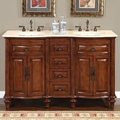 Silkroad Exclusive Camellia HYP0719CMUIC55 Sink Vanity Brown, 1