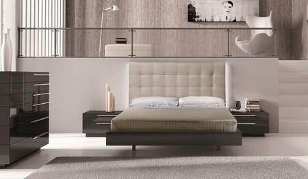 J and M Furniture Beja 18149K Bed Beige, main image